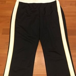 Nike Mesh Athletic Track Pants Crop Navy